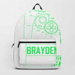 Brayden Legendary Gamer - Personalized Name Gift Backpack