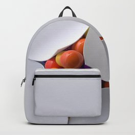 balls flying out of a crack Backpack