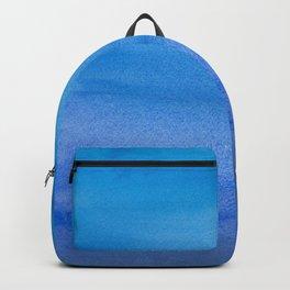 Hues of Blue Stripes Backpack