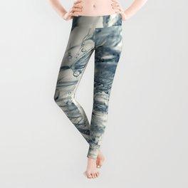 Cyan Dandelion Leggings