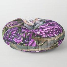 Eggplant Vendor, Myanmar Floor Pillow