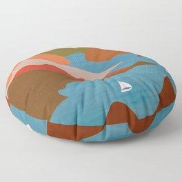 Sea Bay Sailing Floor Pillow