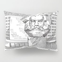 Karl Marx 35p stamp (former GDR/DDR)  Pillow Sham