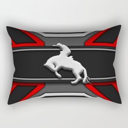 Black and Red Rodeo Cowboy Sports Design Rectangular Pillow
