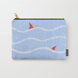 Red sharks. Series: Oil Paint Smears. Summer, sea, friendship. Carry-All Pouch