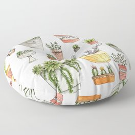 Potted Succulents Floor Pillow