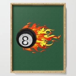 Flaming 8 Ball Serving Tray