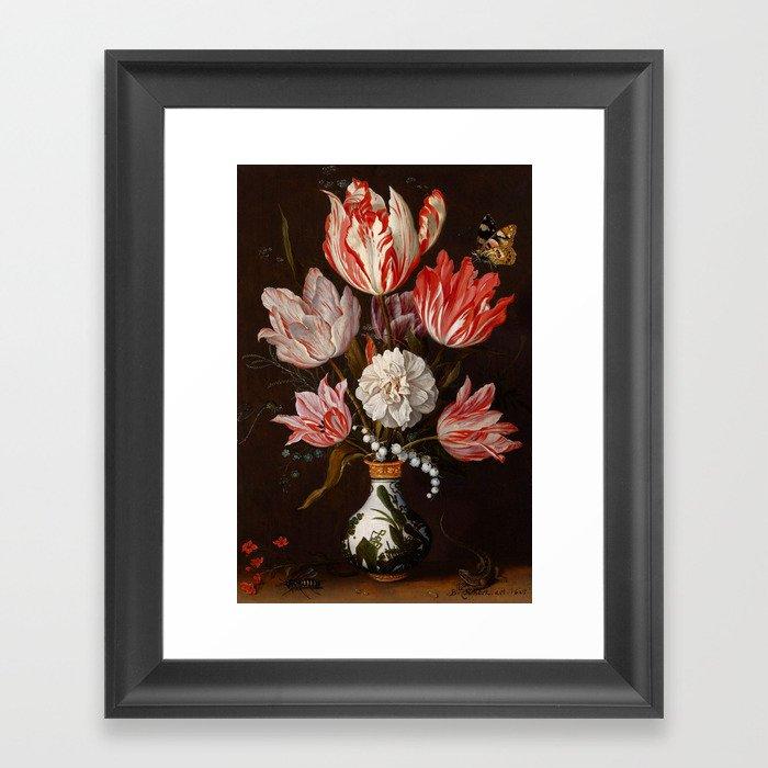 """Balthasar van derAst """"Flowers"""" Gerahmter Kunstdruck"""