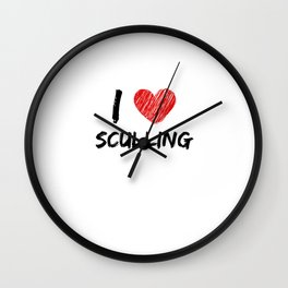 I Love Sculling Wall Clock
