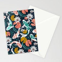 Koi Pond - Pink Stationery Cards