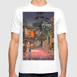 Tsuchiya Koitsu - Evening at Ushigome - Japanese Vintage Woodblock Painting T-shirt