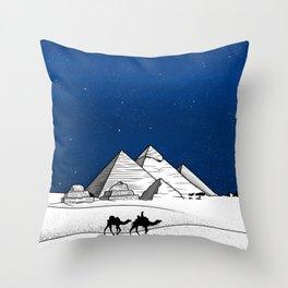The pyramids of Giza Throw Pillow