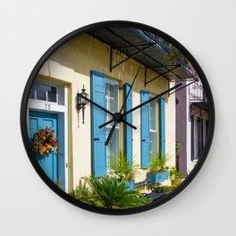Charleston SC No.3 House on Rainbow Row Wall Clock