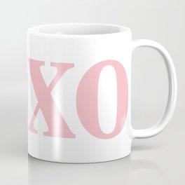 Coral XOXO Coffee Mug
