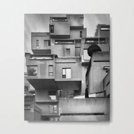 Habitat 67 02 - Mid Century Architecture Metal Print
