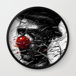 Red nose Wall Clock