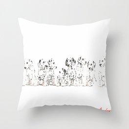 Cachorros de dálmata  ( Dalmatian puppies ) Throw Pillow