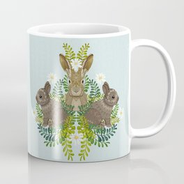 Cute Bunny Damask Coffee Mug