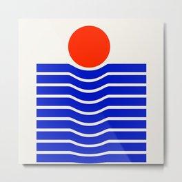 Going down-modern abstract Metal Print