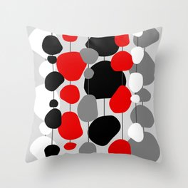 Hanging By A Thread - Abstract Throw Pillow