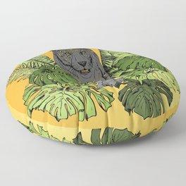 Tiger, Tropic Plants Floor Pillow