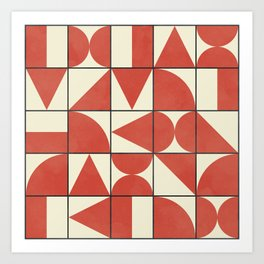 Geometric Puzzle #1 Art Print