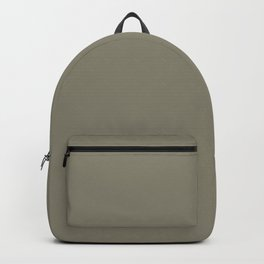 Let's Stay Grounded Brown Solid Color Pairs To Sherwin Williams Connected Gray SW 6165 Backpack