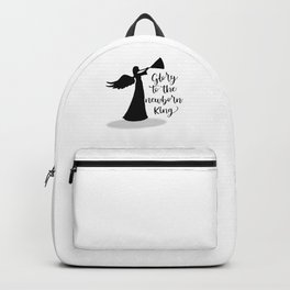 Glory To The Newborn King Christmas Angel Backpack
