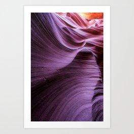 Purple Rock Swirls Art Print