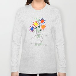 Pablo Picasso Bouquet Of Peace 1958 (Flowers Bouquet With Hands), T Shirt, Artwork Long Sleeve T-shirt