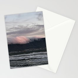 Table Mountain And Lion's Head Cape Town Sea Beach, South Africa Stationery Cards