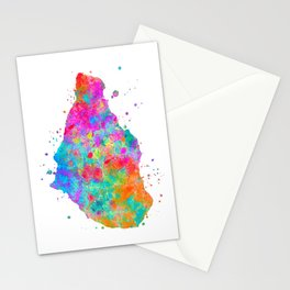 Montserrat Map Stationery Cards