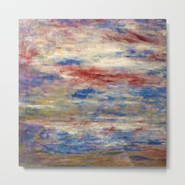 The Tempest (Maritime Storm with boats) landscape painting by James Ensor Metal Print