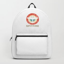 Spitfire Retro Vintage Jet Fighter Shooting Plane Aircraft Airplanes Air Vehicle Pilot Gift Backpack