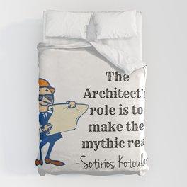 The architect's role Duvet Cover