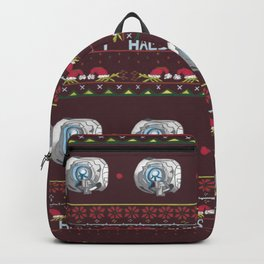 Ugly Halo Christmas sweater Backpack