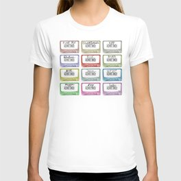 Tape Mix 1 Vintage Cassette Music Collection T-shirt