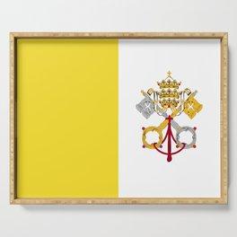 Vatican City Holy See flag emblem Serving Tray