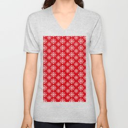 Winter Wonderland Snowflake Snowfall Christmas Pattern Unisex V-Neck