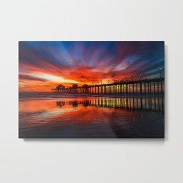 Surf City USA Sunset  7-18 Metal Print