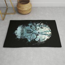 Dark Forest Skull Rug