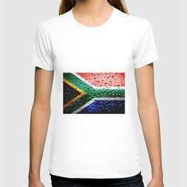 Flag of South Africa - Raindrops T-shirt