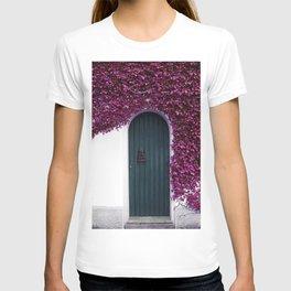 Purple Ivy Vine Doorway Photograph T-shirt