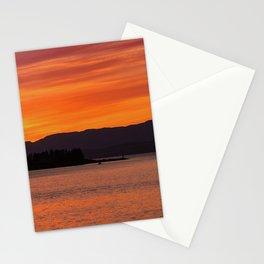 Sundown over Oban Bay Stationery Cards