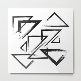 abstract geometry triangles Metal Print