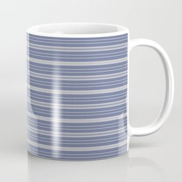 Blue Gray Stripes Coffee Mug