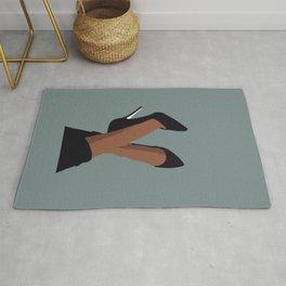 Black woman legs art Rug