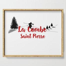 Ski at La Combe Saint Pierre Serving Tray