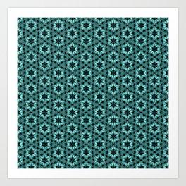 Turquoise pattern Art Print