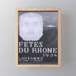 Affiche Fetes du Rhone Framed Mini Art Print